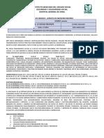 Ejemplo de Ingreso médico e indicaciones IMSS