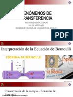 Tema 13 y 14 Interpretación y Restriccion Ecuacion de Bernouille