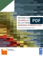 Informe sobre Desarrollo Humano de los Pueblos Inígenas de México