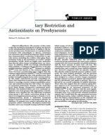 Effects of Dietary Restriction and Antioxidants on Presbyacusis