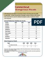 Connecticut's Most Dangerous Roads fact sheet