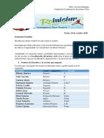 BOLETIN DE INICIO PRIMER GRADO