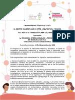 Convocatoria 1er Congreso Literacidad