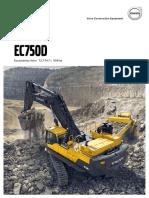 escavadeira ec750d