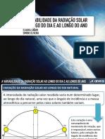 Variação da Radiação Solar ao longo do dia e ao longo do Ano Raio X (1)