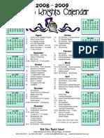 BEBS Calendar 08-09