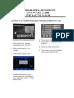 Cara Input Program CNC