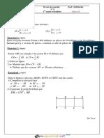 Série d'exercices - Math Angles - 1ère AS (2015-2016) Mr Bechir Zdiri
