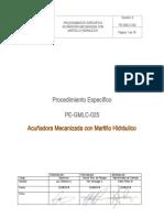 PE-GMLC-025 Acuñadora Mecanizada con Martillo Hidráulico