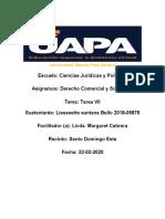 TAREA VII  DERECHO COMERCIAL Y SOCIETRARIO.docx