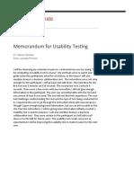 Usability Test Memo