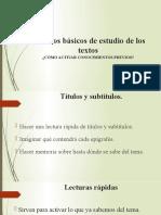 Métodos básicos de estudio de los textos