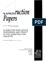 Claims for Head Office Overheads