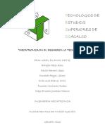MECATRONICA EN EL DESARROLLO TECNOLÓGICO