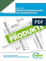 Abfall-afbereitunganlagen Broschüre