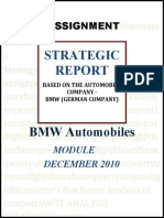 Project 2 Strategic report - automobile company