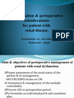 Optimization & perioperative management for patient with renal disease - Venkatesh