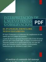10- INTERPRETACIÓN DEL NUEVO TESTAMENTO OBSERVACIONES GENERALES