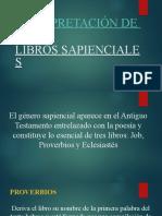 9- INTERPRETACIÓN DE LOS LIBROS SAPIENCIALES