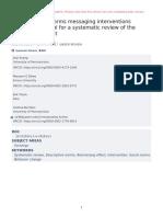 Do Descriptive Norms Messaging Interventions Backf