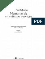 Schreber, Daniel Paul. Memorias de un enfermo nervioso