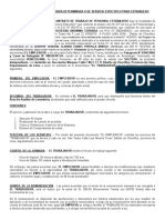 Modelo de Contrato de Trabajo para Venezolanos