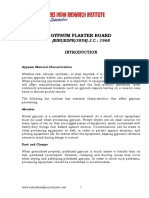 PROJECT REPORT ON GYPSUM PLASTER BOARD