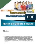 DEPARTAMENTO DE COMUNICACIONES MOP-UPS