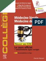 Médecine légale - Médecine du travail Réussir les ECNi 2019