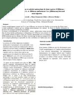 Contribution à l'étude morphologique et phytochimique  d'Hibiscus