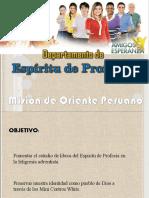 DEPARTAMENTO DE ESPÍRITU DE PROFECÍA MOP-UPS