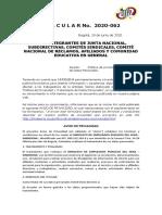 CIRCULAR 2020-062 POLITICA DE PRIVACIDAD Y TRATAMIENTO DE DATOS PERSONALES_