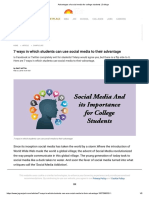 Advantages of Social Media for College Students _ College