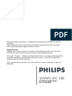 SOPHO IPC 100 (CTI Getting Started Guide)