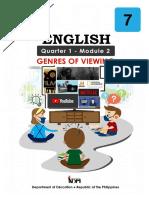 English7 Genres of Viewing