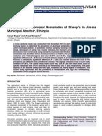 Prevalence of Abomasal Nematodes of Sheep's in Jimma Municipal Abattoir, Ethiopia