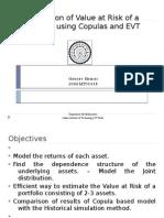 Estimation of Value at Risk of a Portfolio