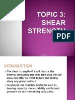 TOPIC 3 - SHEAR STRENGTH