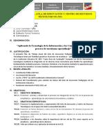 PLAN DE TRABAJO DE AIP-CRT
