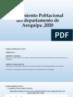 Crecimiento Poblacional del departamento de Arequipa ,2020