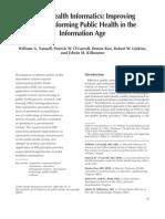 Public Health Informatics Improving and Transforming Public Health in the Information Age