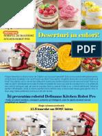Retete Deserturi RO DLM Kitchen Robot PRO Red White RecipeBook