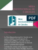 MESA INTERINSTITUCIONAL DE CÁRCELES