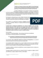 Observaciones del Instituto Mexicano de Derechos Humanos y Democracia (IMDHD) a la iniciativa sobre Declaración Especial de Ausencia en Guanajuato