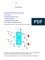 amplificador estéreo TDA2822 con PCB