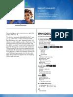 UN-40D6500 spec sheet