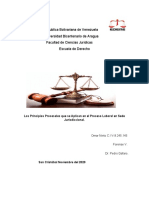 quinto fo v los principios procesales que se aplican n el proceso laboral en sede jurisdiccional