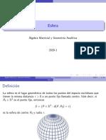 Formulas de Esfera en 3D - R3