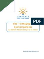 CE2 - Le cahier pour la classe - les homophones