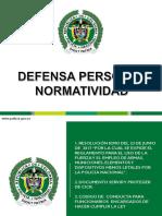 PRESENTACION DEFENSA PERSONAL NORMATIVIDAD